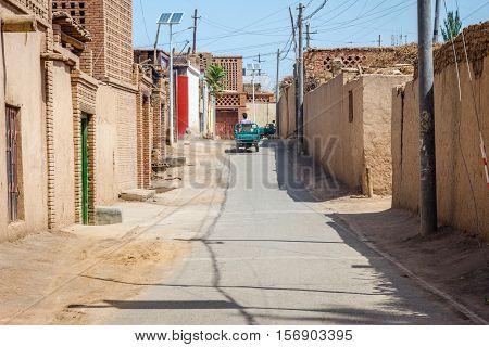 Local Street In Turpan, China