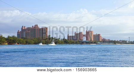 nassau bahamas with atlantis resort in background