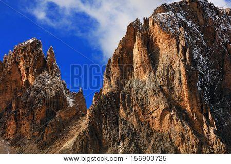 Sassolungo Group, South Tirol, Dolomites Mountains, Italy, Europe