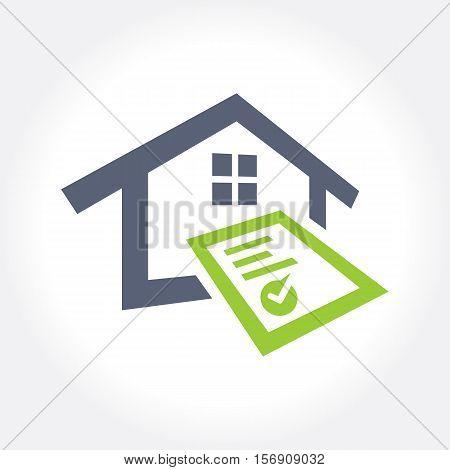 Home Inspection Logo Template, vector illustration design