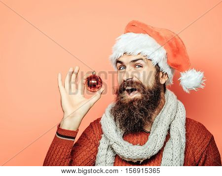 Christmas Man With Decorative Ball