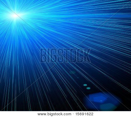Blue and black laser background image