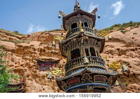 Pagoda At Horse's Hoof Temple, Mati Si, China