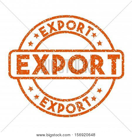 red export stamp over white background. import and export design. vector illustration