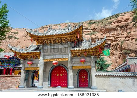 Entrance To Horse's Hoof Temple, Mati Si, China