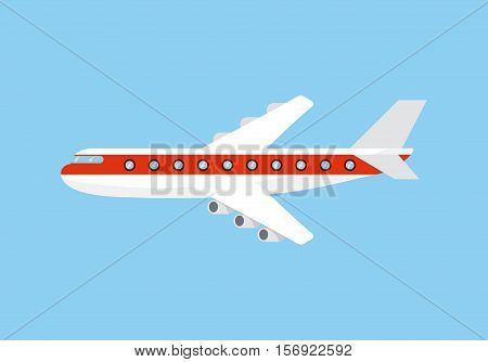 airplane vehicle icon over blue background. vector illustration