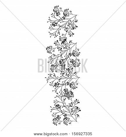 Flowers silhouette icon. Decoration rustic garden floral nature plant and spring theme. Isolated design. Vector illustration