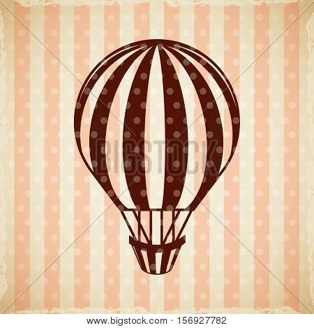 air balloon vehicle icon. colorful design. vector illustration