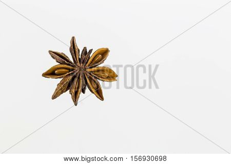 Anise Fruits And Seeds Isolated On White Background