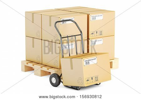 Shipping and logistics concept 3D rendering isolated on white background