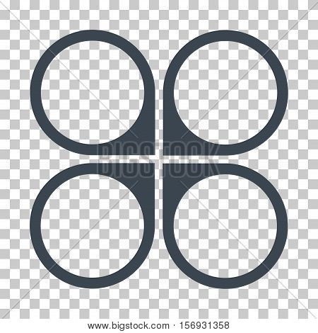 Air Copter EPS vector pictograph. Illustration style is flat iconic smooth blue symbol.