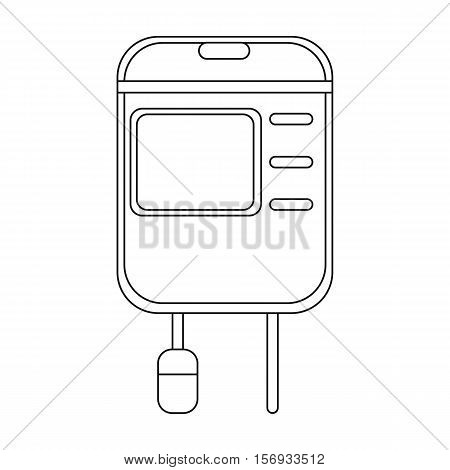 Drop counter icon in outline style isolated on white background. Medicine and hospital symbol vector illustration.