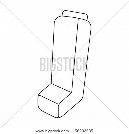 Inhaler icon in outline style isolated on white background. Medicine and hospital symbol vector illustration.