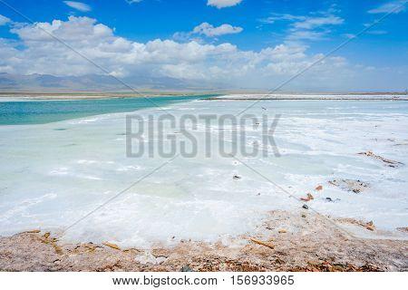 Chaqia (chakayan) Salt Lake, Qinghai, China