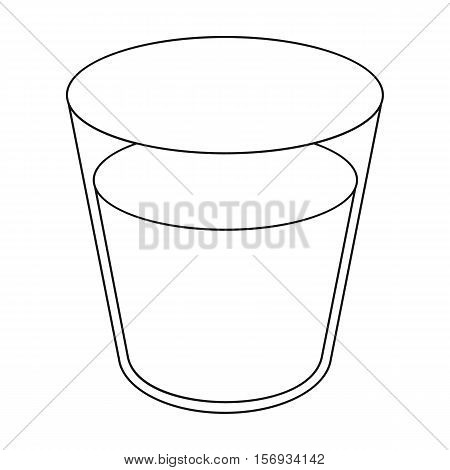 Glass milk icon in outline style isolated on white background. Milk symbol vector illustration.