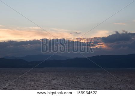a trip to the lake in the mountains nearest the old city Ohrid in Macedonia