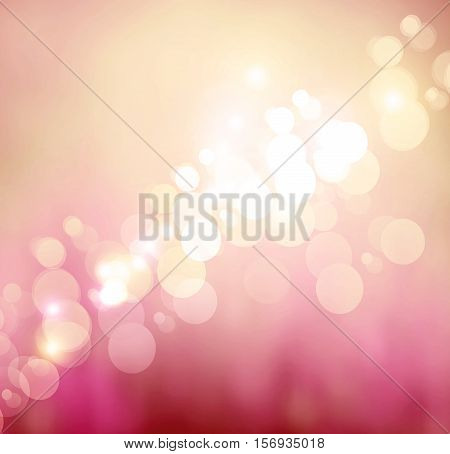 Light Festive Background With Shine And Twinkle