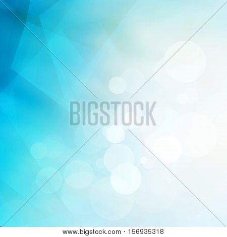 Abstract Low Poly Blue And White Geometric Background With Shine