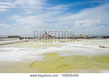 Chaqia Salt Lake And Mine, Qinghai, China