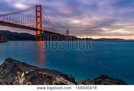 the beautiful Golden Gate Bridge in San Francisco