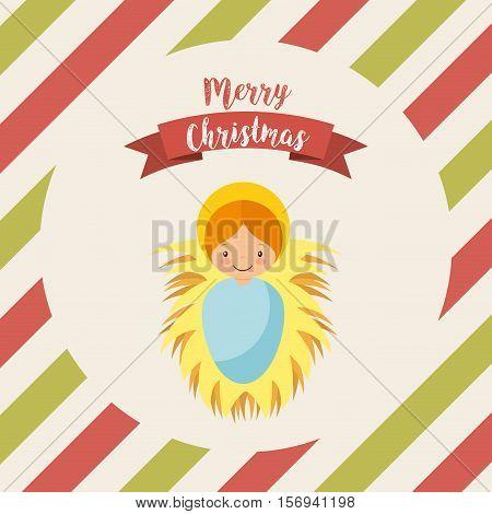 cartoon baby jesus icon. merry christmas design. vector