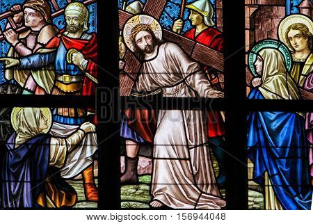Stained Glass - Jesus On The Via Dolorosa