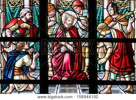 Stained Glass - Jesus On Good Friday