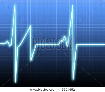 Heart monitor background poster
