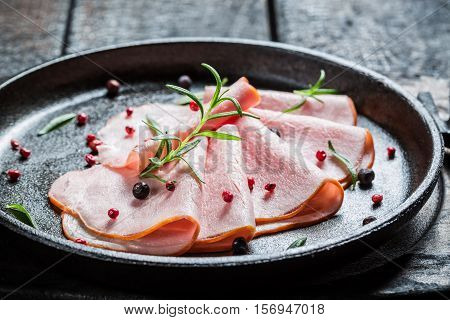 Tasty Cold Cuts With Herbs And Pepper