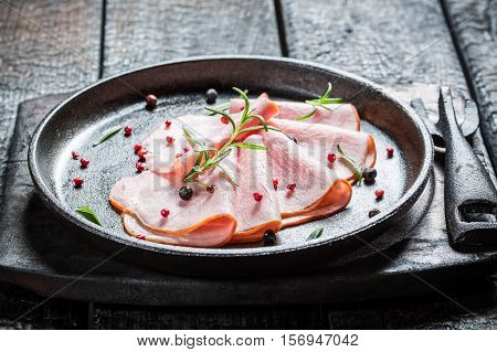 Tasty Cold Cuts With Pepper And Herbs