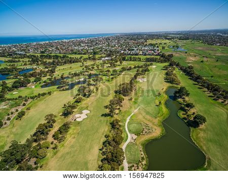 Aerial View Of Patterson River Golf Club, Melbourne, Australia