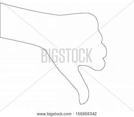 People Hand Path on the white background