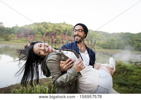 Couple Travel Adventure Happiness Exploration Concept