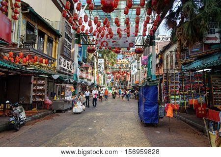 People Walk On Petaling Street, Kuala Lumpur