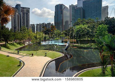 Simfoni Lake In Klcc Park. Kuala Lumpur