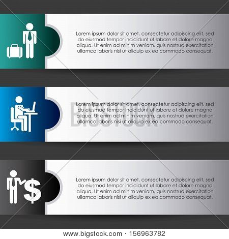 colorful infographic template presentation with businessman icon. vector illustration