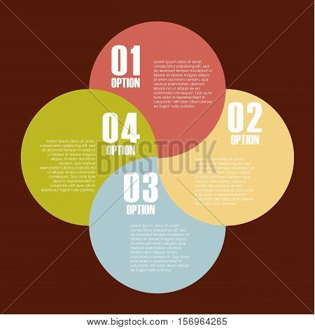 infographic presentation template with numbers. colorful design. vector illustration