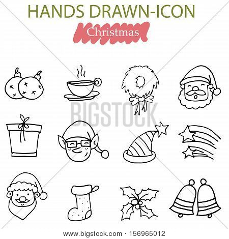 Vector art of Christmas icon collection stock