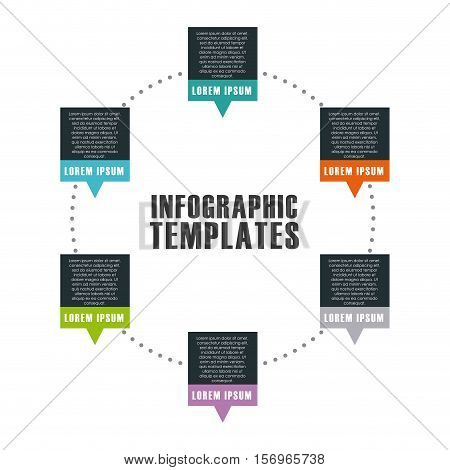 infographic presentation template. colorful design. vector illustration