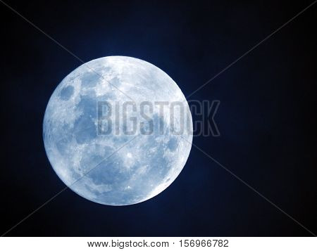 Full Moon or Perigee Moon / The moon was likely formed after a Mars-sized body collided with Earth and the debris formed into the most prominent feature in our night sky.
