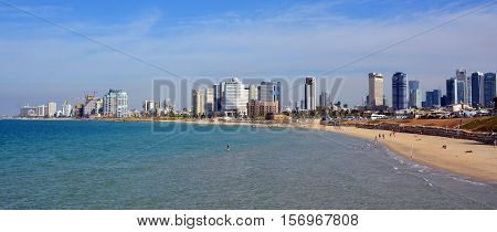 TEL AVIV ISRAEL 04 11 16:Tel Aviv-Yafo is a major city in Israel. It is known to be the financial center and the technology hub of Israel. Tel Aviv is the largest city in the Gush Dan region of Israel