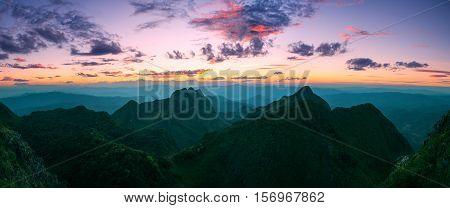 Mountain Sunset Sky