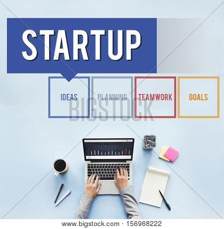 Startup Business Development Enterprise Vision Concept