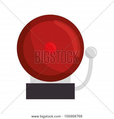 ring school alarm icon vector illustration design