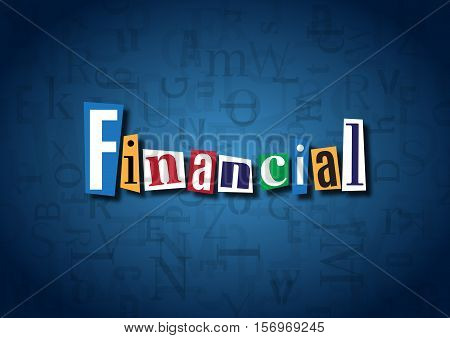 The word Financial made from cutout letters