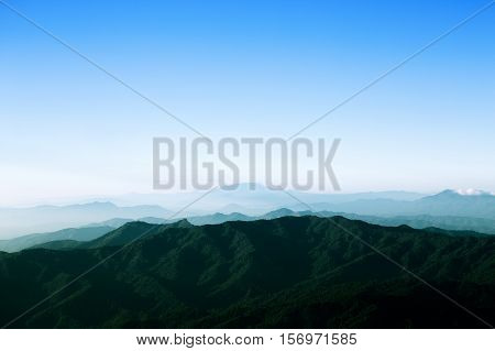 Mountain range and sky in Chiang Mai Thailand