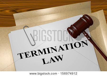 Termination Law Concept