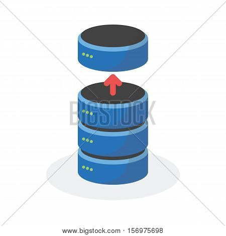 Data Storage Icon With Reduce Base Storage, Esp10