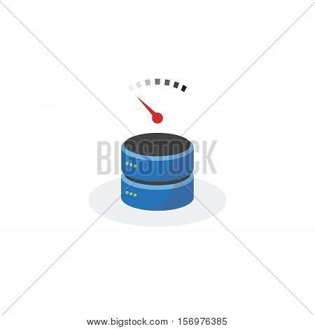 Data Storage Icon With Slow Speed Base Storage