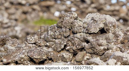 Lava Rock From Volcano - Iceland